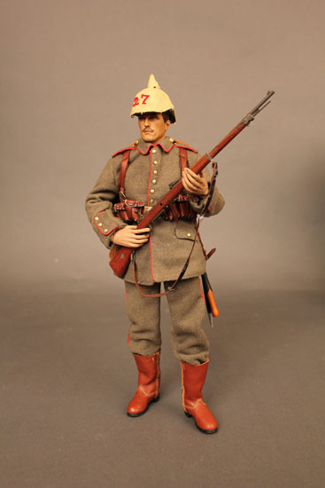 Battle of Liege Imperial German Infantryman with helmet cover