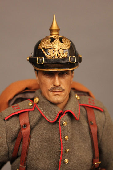 Battle of Liege Imperial German Infantryman Pickelhaube